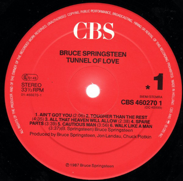 Indexbild 3 - Bruce Springsteen - Tunnel Of Love (LP, Album) Near Mint (NM or M-)- 1445475562